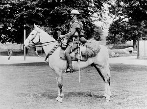 British soldier on horseback, WW1