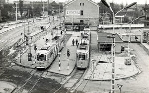 new images grenville collins collection/budapest hungary terminus tram lines 2 24
