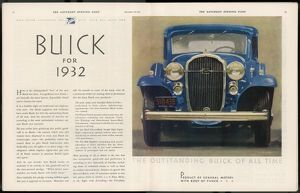 BUICK FOR 1932