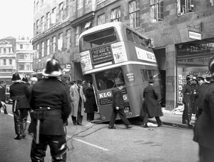 Bus crash in Cannon Street, City of London