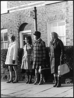 BUS STOP QUEUE 1960S
