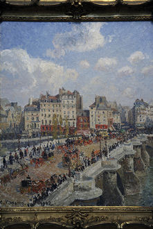 Camille Pissarro (1830-1903). The Pont-Neuf (1902). Museum o