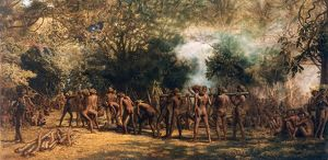 A Cannibal Feast, Charles E Gordon Frazer