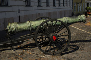 Cannon. Budapest. Hungary