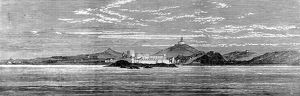 Cape Coast Castle and forts in 1873.