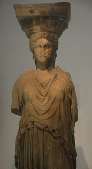 Caryatid of the Erechtheion. Athens 421-407 BC. Original. Th