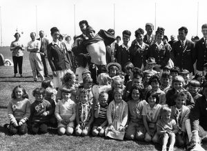 Children and Redcoats at Butlin's holiday camp