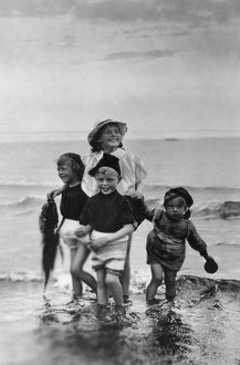 Children at the seaside