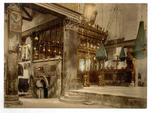 Church of the nativity (interior), Bethlehem, Holy Land, (i.
