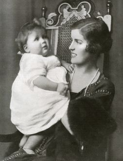 The Countess Spencer with her son, Lord Althorp
