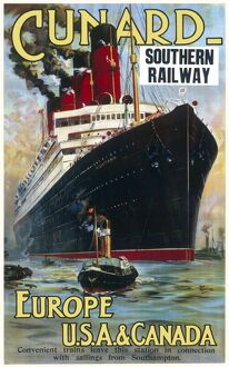 Cunard travel Poster