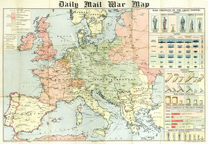 Daily Mail War Map, WW1