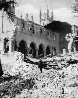 Damage to Canterbury Cathedral Library, WW2 - Baedeker Blitz