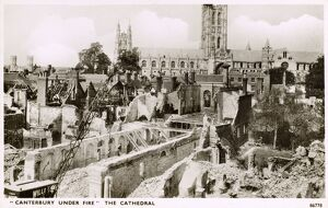 Damage to Canterbury during WW2 - Baedeker Blitz