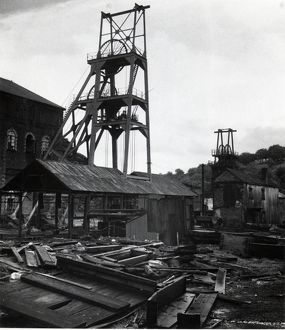 Derelict Tirpentwys Colliery, Pontypool, South Wales