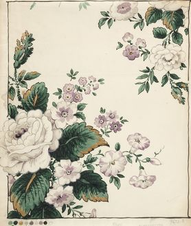Design for Chintz with roses