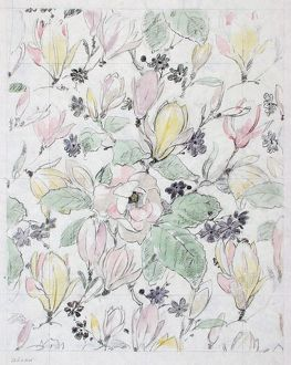 Design for Cretonne with flowers