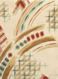 Design for Printed Textile in art deco style