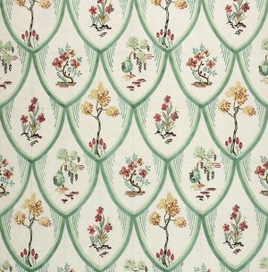 Design for Printed Textile with enclosed flowers