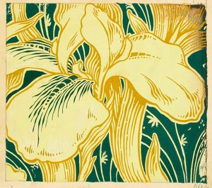Design for Printed Textile with lilies