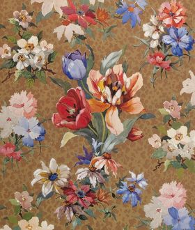 Design for Textile with flowers