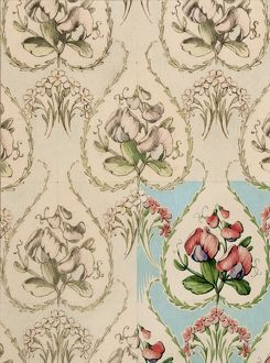 Design for Textile or Wallpaper with flowers