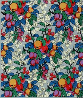 Design for Textile or Wallpaper with fruit