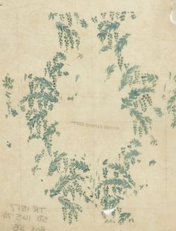 Design for Textile or Wallpaper with green leaves