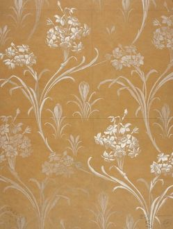 Design for Textile or Wallpaper in white and gold
