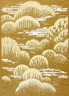 Design for Textile in white and gold