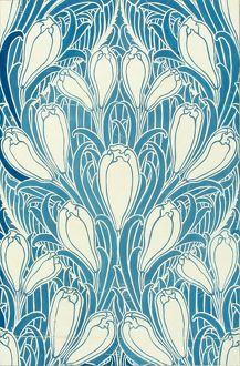 Design for Wallpaper in blue and white