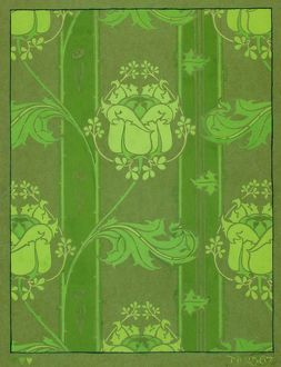 Design for Wallpaper in bright green
