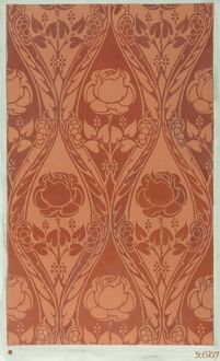 Design for Wallpaper with orange flowers
