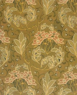 Design for Wallpaper in pink and brown