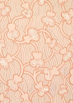 Design for Wallpaper in pink and orange