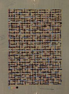Design for Wallpaper in woven style