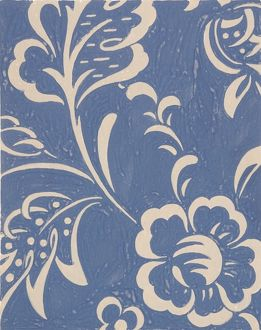 Design for Woven Textile in blue and white