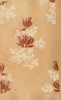 Design for Woven Textile in brown and beige