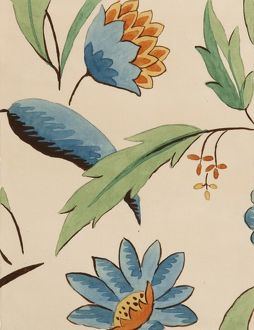 Design for Woven Textile with flowers
