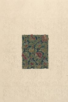 Design for Woven Textile with flowers and leaves