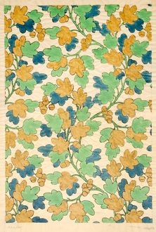 Design for Woven Textile with leaves
