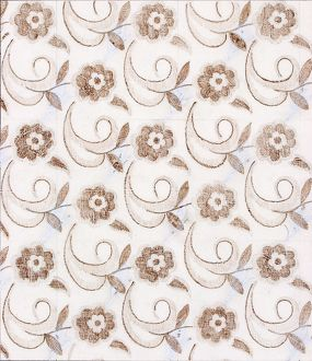 Design for Woven Textile with small brown flowers