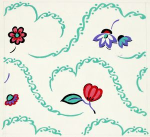 Design for Woven Textile with small flowers