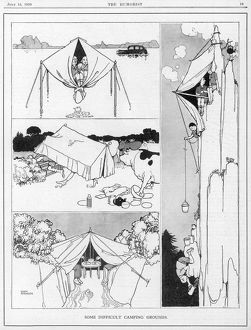 Some Difficult Camping Grounds by Heath Robinson