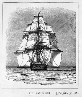 Drawing of H.M.S. Beagle