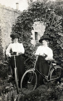 new images grenville collins collection/edwardian women bicycles garden