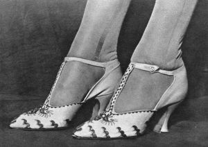 Elizabeth Bowes-Lyon's wedding shoes