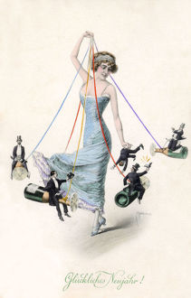 new images grenville collins collection/fantasy austrian new year maypole