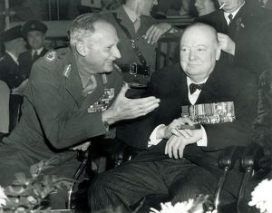 Field Marshall Montgomery and Winston Churchill at the Alamein Reunion