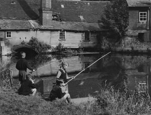 FISHING BY THE MILL